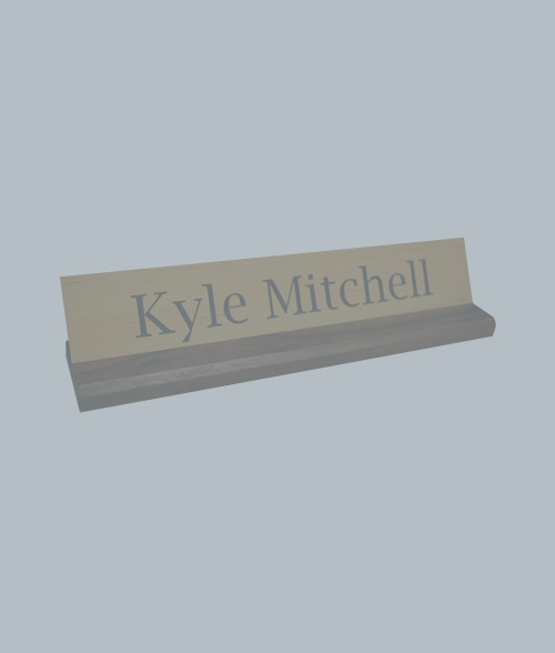Walnut Desk Nameplate Holders