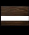 Rowmark Mattes English Walnut/White Engraving Plastic