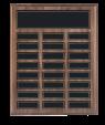 Walnut Veneer 24 Plate Perpetual Plaque