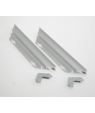 """3"""" PAIR ANODIZED SILVER 100 CLEARPATH STREAMLINE (12/CS) METAL FRAME SYSTEM"""