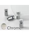 CHROME D.47 L.59 SINGLE PANEL METRO STAND-OFFS (4/PKG) CLEARPATH