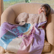 Sherpa Lined Baby Blanket