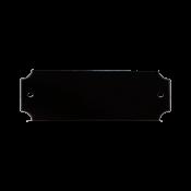 """Black 7/8"""" x 2-1/2"""" Lacquered Aluminum Decorative Plaque Plate"""