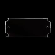 """Black 1"""" x 2.5"""" Lacquered Aluminum Decorative Plaque Plate"""