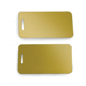 Satin Gold Brass Luggage Tag