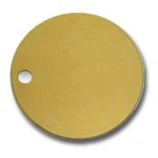 "Satin Gold 1.5"" Brass Circle"