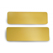 Satin Gold Brass Badge Blank