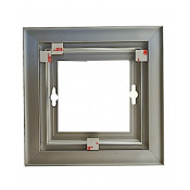 """Rowmark Streamline 200 Anodized Silver 6"""" x 6"""" Assembled Metal Frame with 3/16"""" Border"""