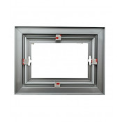 """Rowmark Streamline 200 Anodized Silver 6"""" x 8"""" Assembled Metal Frame with 3/16"""" Border"""