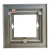 """Rowmark Streamline 200 Anodized Silver 8"""" x 8"""" Assembled Metal Frame with 3/16"""" Border"""