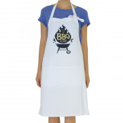 White Adult Canvas Apron with Waist Pocket