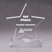 """Acrylic 7"""" x 7"""" Star Award"""