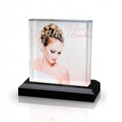 Clear Acrylic Award with Black Base