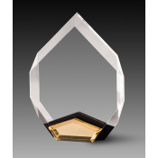 Clear Beveled Acrylic Marquis Award