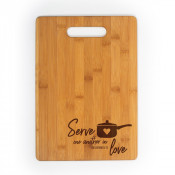 "Bamboo Cutting Board 13.5"" x 9.75"" x .43"""