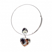 Heart Adjustable Photo Bracelet