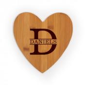 """Heart Shaped Bamboo Cutting Board 8.5"""" x 9"""" x .35"""""""