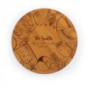 "Round Bamboo Cutting Board 11.75"""