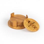 "Round Bamboo Coaster (4/pkg) 3.75"""