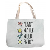 "White 14.8"" x 16.9"" Canvas Tote Bag"