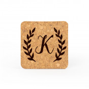 "4"" x 4"" Square Cork Coaster"