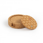 Circular Cork Coaster Set