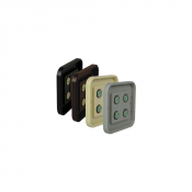 "Rowmark Portico 4"" x 4"" Round Plastic Frame"