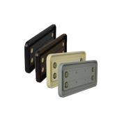 "Rowmark Portico 4"" x 10"" Round Plastic Frame"