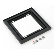 "Rowmark Streamline 100 Nighthawk Black 8"" x 8"" Assembled Metal Frame with 1/16"" Border"