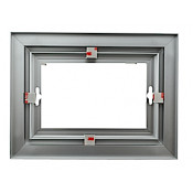 "Rowmark Streamline 100 Anodized Silver 6"" x 8"" Assembled Metal Frame with 1/16"" Border"