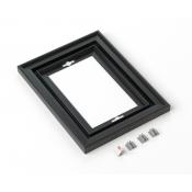 "Rowmark Streamline 200 Nighthawk Black 6"" x 8"" Assembled Metal Frame with 3/16"" Border"