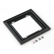 "Rowmark Streamline 200 Nighthawk Black 8"" x 8"" Assembled Metal Frame with 3/16"" Border"