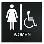 Rowmark Presto Black Women's Handicap Accessible Ready Made ADA Sign