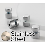 "Rowmark Elite Stainless Steel StandOffs (.59"" Diameter .39"" Barrel Length)"