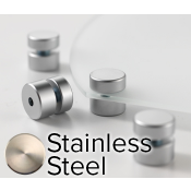 "Rowmark Elite Stainless Steel StandOffs (.75"" Diameter .39"" Barrel Length)"