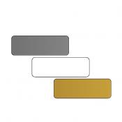 "DCS 1"" x 3"" .060"" Print Receptive Blank PVC Card"