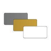 "DCS 1.5"" x 3"" .060"" Print Receptive Blank PVC Card"