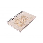 A5 Wiro Plywood Cover Notebook