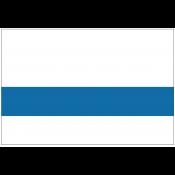 Rowmark DurMark White/Blue Engraving Plastic