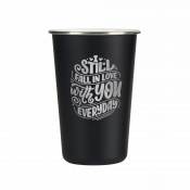 BOSS CeramiSteel 16oz Matte Black Insulated Pint Glass