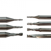 Crown Cutters 2-Fluted Solid Carbide End Mill for Aluminum and Brass