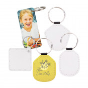 Faux Leather Sublimation Keychain