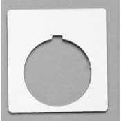 """Satin White/Black 1-3/4"""" x 1-3/4"""" Plastic Push Button Plate with 1-7/32"""" Hole"""