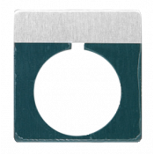 "Dark GRY 1-13/16"" x 1-13/16"" Aluminum Push Button Plate 1-7/32"" Hole"