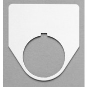 """Satin White/Black 2-3/16"""" x 2-1/16"""" Plastic Push Button Plate with 1-7/32"""" Hole"""