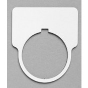 """Satin White/Black 1-15/16"""" x 1-3/4"""" Plastic Push Button Plate with 1-7/32"""" Hole"""