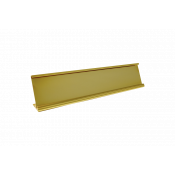 """JRS Polished Yellow Gold 2"""" x 8"""" #48 Desk Holder for 1/16"""" Thick Material"""