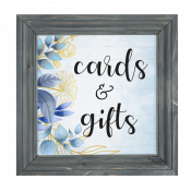 """White 12.5"""" x 12.5"""" Faux Wood Framed Sign"""