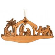 "Alder Wood 2.25"" x 5"" Nativity Ornament"