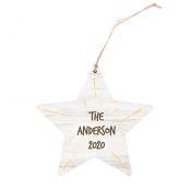 Star Ornament with Yellow Bursts